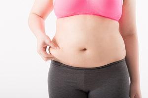 脂肪がたっぷりの女性イメージ